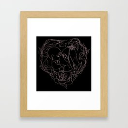 Wedding Illustration Framed Art Print