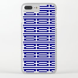 flag of greece 2-Greece,flag of greece,greek,Athens,Thessaloniki,Patras,philosophy,theater,tragedy Clear iPhone Case