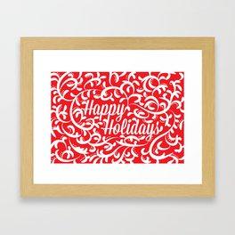 Holiday Swirl Framed Art Print