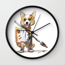 Corgi Barbare Wall Clock
