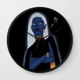 Blue Goddess Wall Clock
