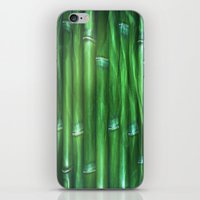 bamboo iPhone & iPod Skins featuring Bamboo by Digital-Art