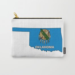 Oklahoma Map with State Flag Carry-All Pouch