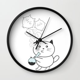 Smoke Cat not War Wall Clock