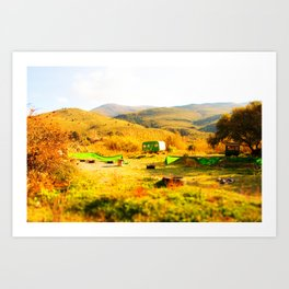 Tilt Shift Trailer Art Print
