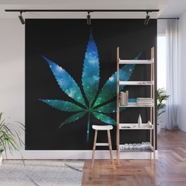 Weed : High Times Blue Green Galaxy Wall Mural