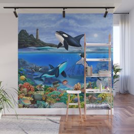 THE ORCA FAMILY Wall Mural