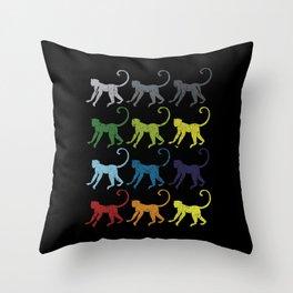 Neon Pop Art Retro Monkey Primate Gift Throw Pillow