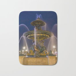 Fountain place de la Concorde Paris Bath Mat