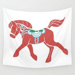 Real Dala Horse #2 Wall Tapestry