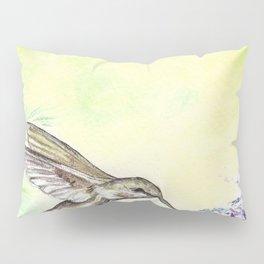 Hummingbird and Salvia Flowers Pillow Sham