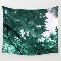 turquoise Wall Tapestries featuring turquoise by Françoise Reina