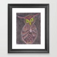 Stylized Owl Framed Art Print