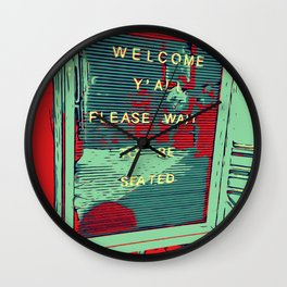Welcome Y'all - Vector Design Image Wall Clock