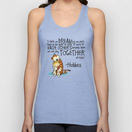 Calvin and Hobbes Dreams Unisex Tank Top