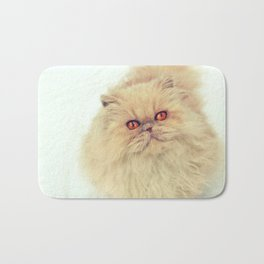 Who are you calling a big ball of fur?  Bath Mat