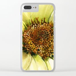 Daisy Disc Florets Clear iPhone Case