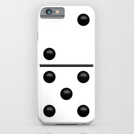 White Domino / Domino Blanco iPhone Case