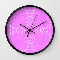 orchid Wall Clocks featuring Orchid  by 2sweet4words Designs