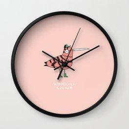 Woodcock sucker Wall Clock