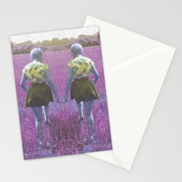 A walk through the grass Stationery Cards
