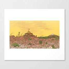 Evening City Canvas Print