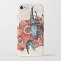 hercules iPhone & iPod Cases featuring Hercules Beetle by Angela Rizza