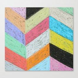 Broken Chevron Chalk Art Canvas Print