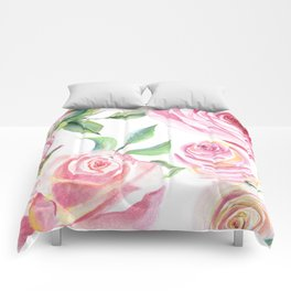 Roses Water Collage Comforters