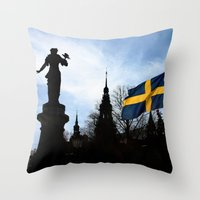 stockholm Throw Pillows featuring Stockholm by Mark Hill