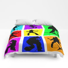 The King Color Tile Silhouette Comforters