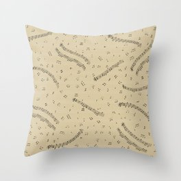 Small Music Throw Pillow