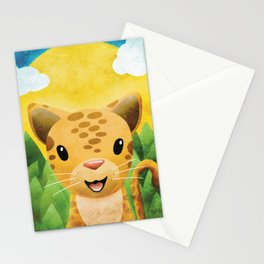 Leopardo DaVinci - Artist Spotted in the Wild - Nursery Art Stationery Cards