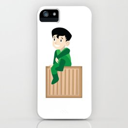 A Perfect Gift For Your Sibling Or Friend An Illustration Of  A Boy Sitting On A Box T-shirt Design iPhone Case