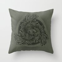 warcraft Throw Pillows featuring Storm of Swords by Plan 9 Design