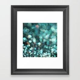 MERMAID GLITTER EMERALD Framed Art Print
