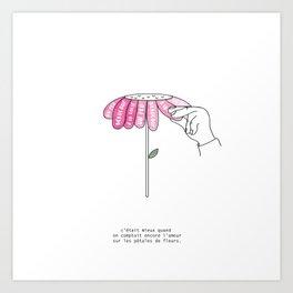 Amour sur pétales Art Print
