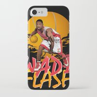 nba iPhone & iPod Cases featuring NBA Legends: Dwyane Wade by Akyanyme