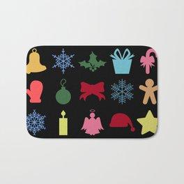 Christmas symbols Bath Mat