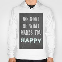 calendars Hoodies featuring Quote, inspiration chalk board  by Shabby Studios Design & Illustrations ..