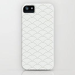 Gray Grey Seigaiha Wave Sea Salt Nautical Minimalist iPhone Case
