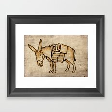 Donkey Framed Art Print