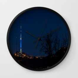 Seoul Tower at Night I Wall Clock