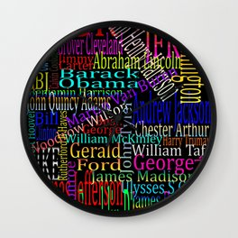 Graphic Presidents Wall Clock