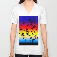 hawaiian V-neck T-shirts featuring Hawaiian Sunset by Designed by Lotito