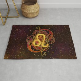 Leo Zodiac Fire element Rug