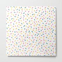 Colorful Party Sprinkles Metal Print