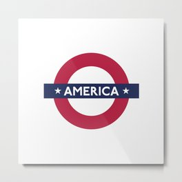 The Transatlantic Line Metal Print