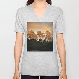Three Sisters - Golden Peaks Unisex V-Neck