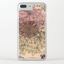 Map of Paris 1869 Clear iPhone Case